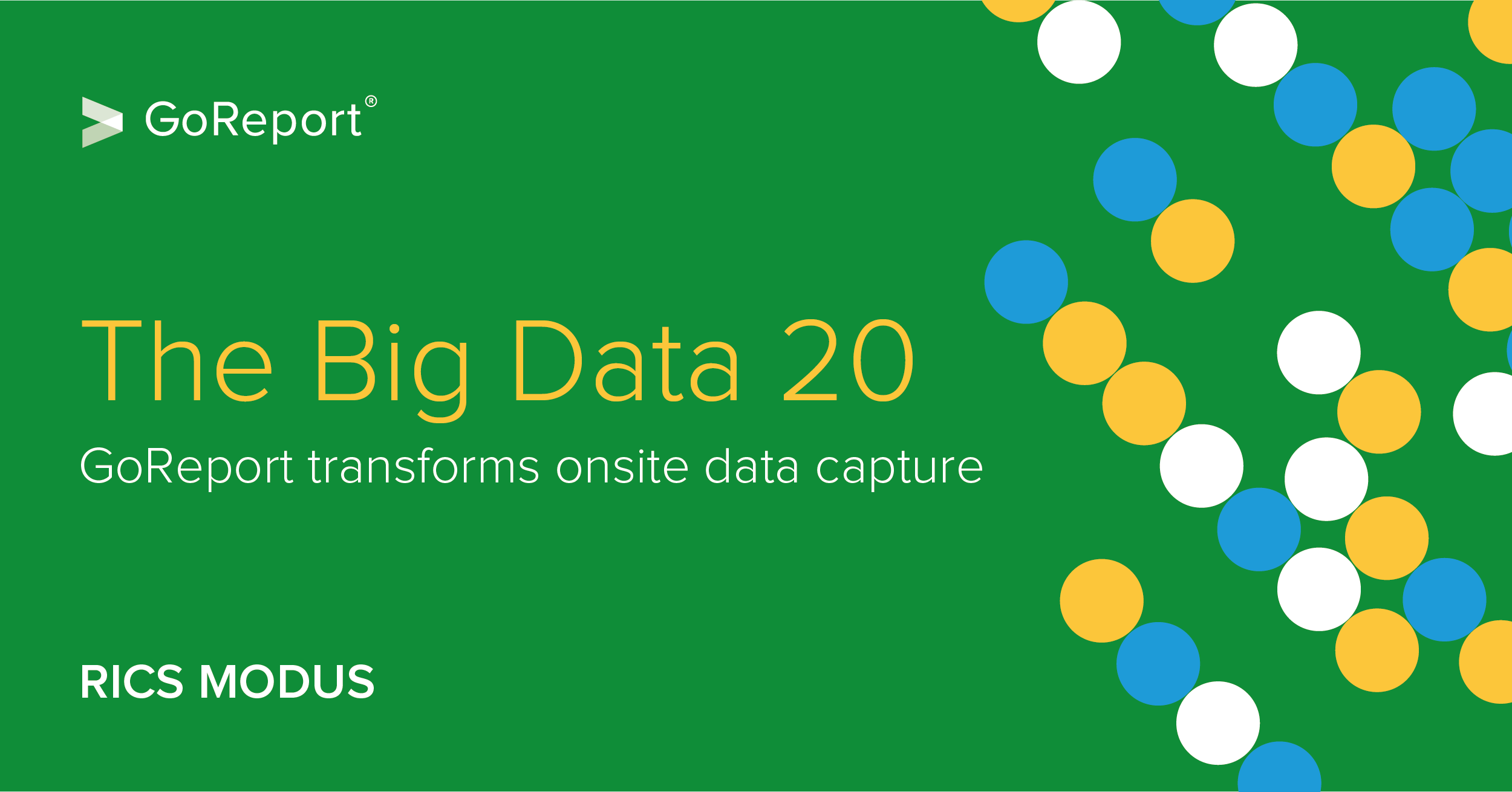RICS Modus: The Big Data 20