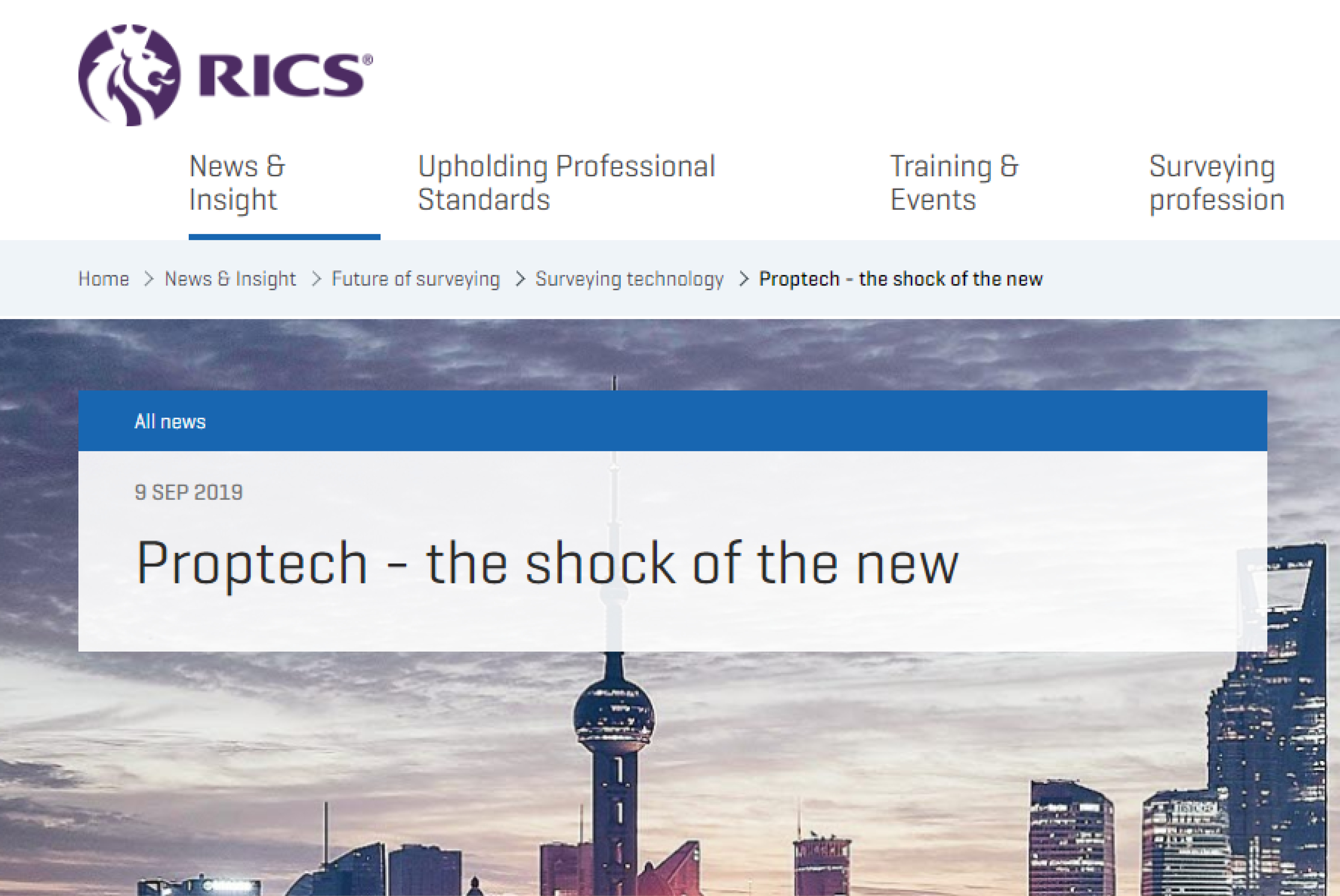 Proptech – the shock of the new